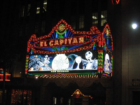 The Nightmare Before Christmas at the El Capitan Theatre ...