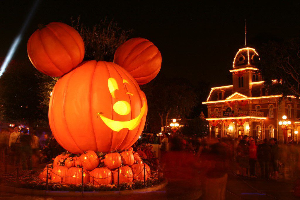 Nighttime casts a spell over Halloweentime at Disneyland