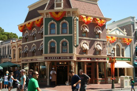 The Market House looks largely unchanged from Main Street