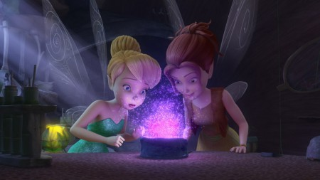 Zarina and Tink with Purple Dust