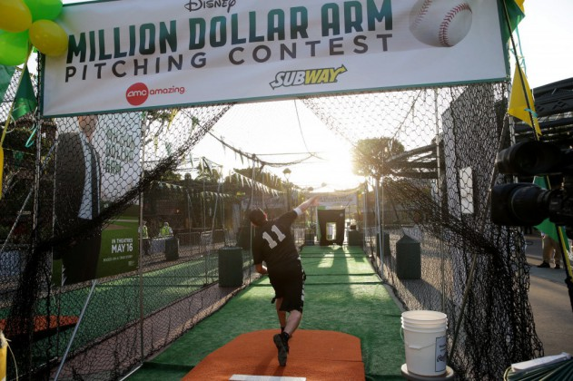 Pictures From Million Dollar Arm Pitching Contest