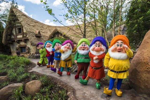 7 dwarfs mine train coaster opening