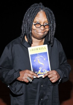 Whoopi Goldberg at Aladdin Photo by Getty Images for Disney