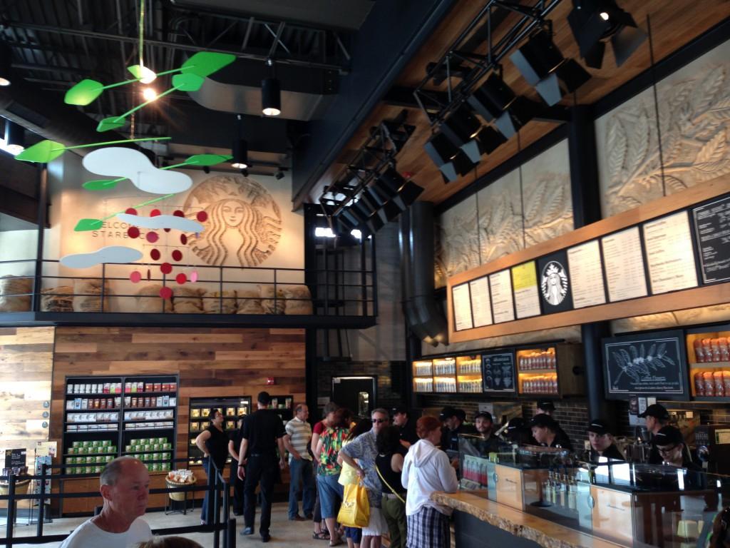 Starbucks Downtown Disney West Side Opens