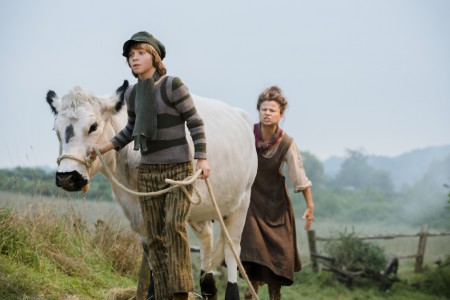 Daniel Huttlestone as Jack and Tracey Ullman as his mother.