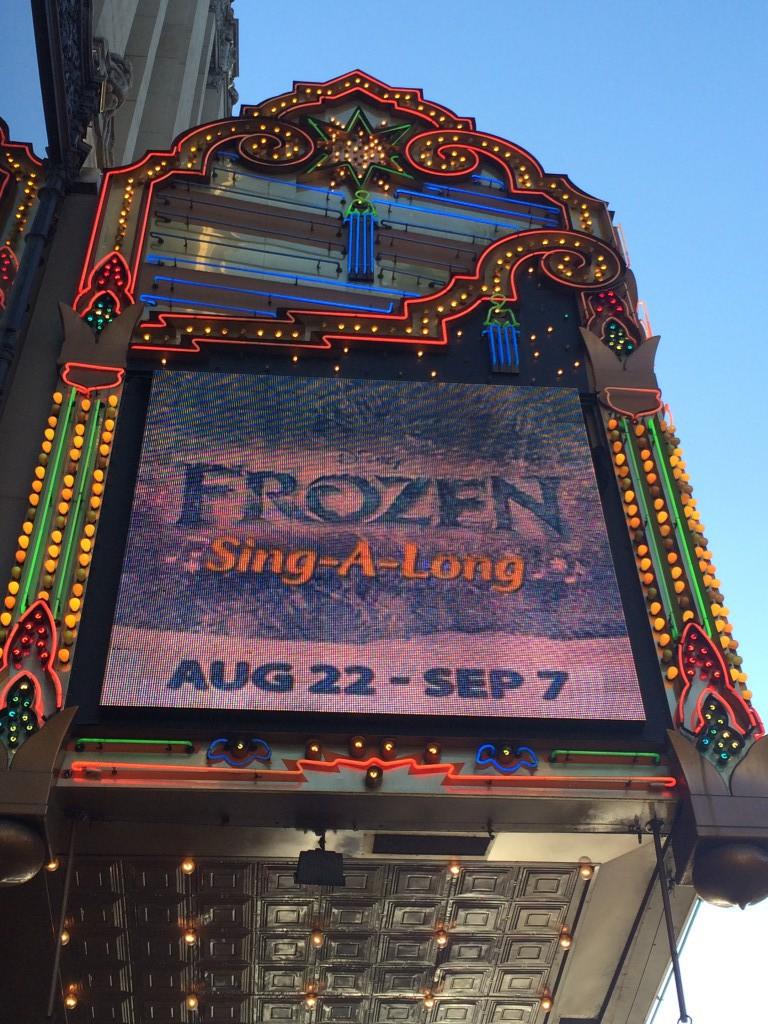 Frozen Sing-Along at the El Capitan Theatre