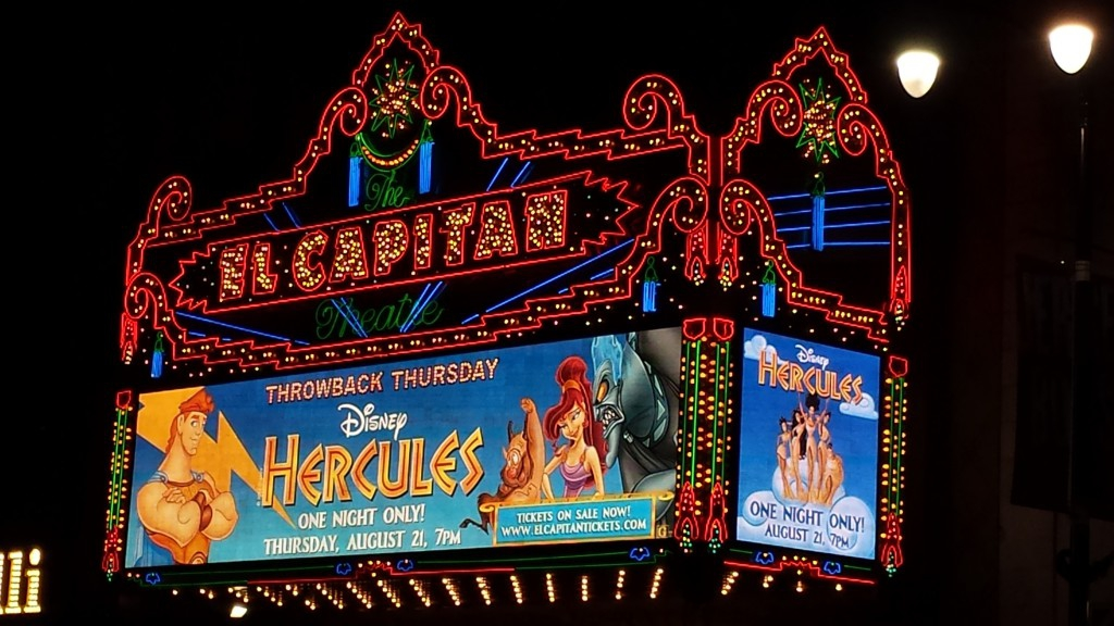 Hercules at the El Capitan Theatre