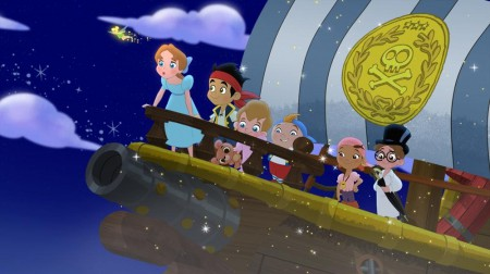 TINKER BELL, WENDY DARLING, JAKE, MICHAEL DARLING, CUBBY, IZZY, JOHN DARLING