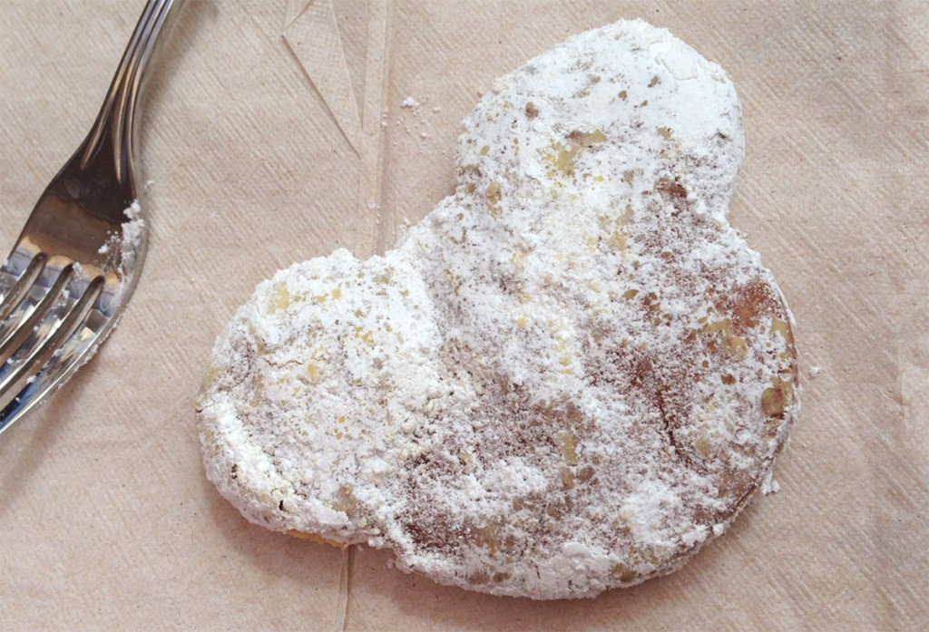 The Mickey-shaped Pumpkin Beignets (US$4.19 for 3; US$7.19 for 6) are ...