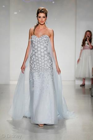 Elsa Inspired Wedding Dress The Talk Of Bridal Fashion Week