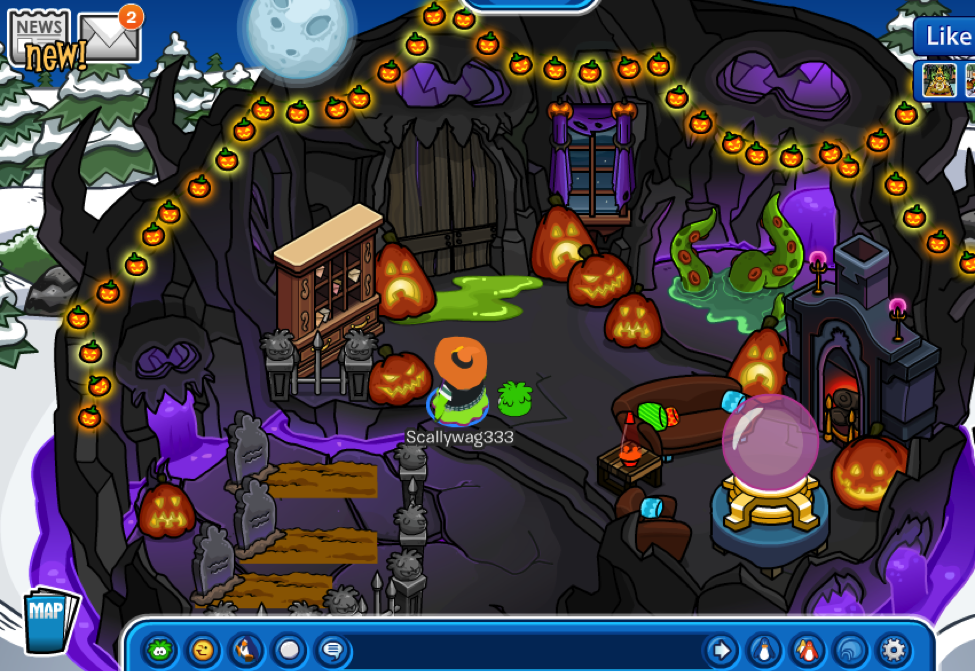 Club Penguin's October Igloo & Furniture Catalog is WICKED Cool