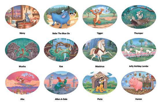 Garden of the Twelve Friends Disney Zodiac Characters Revealed