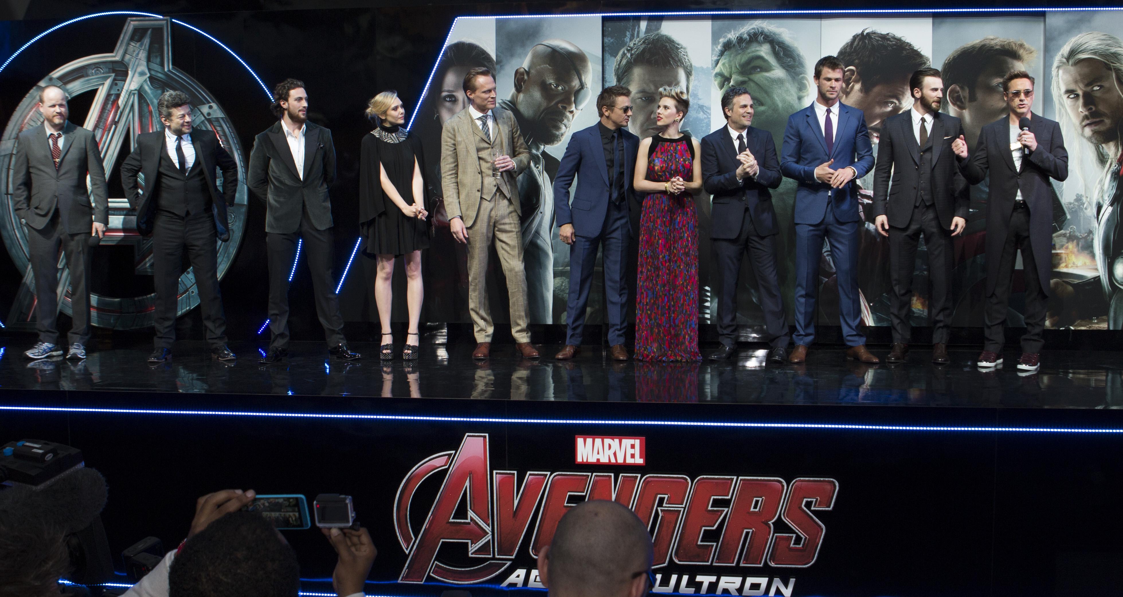 Avengers age of ultron london tour stop for Tour avengers
