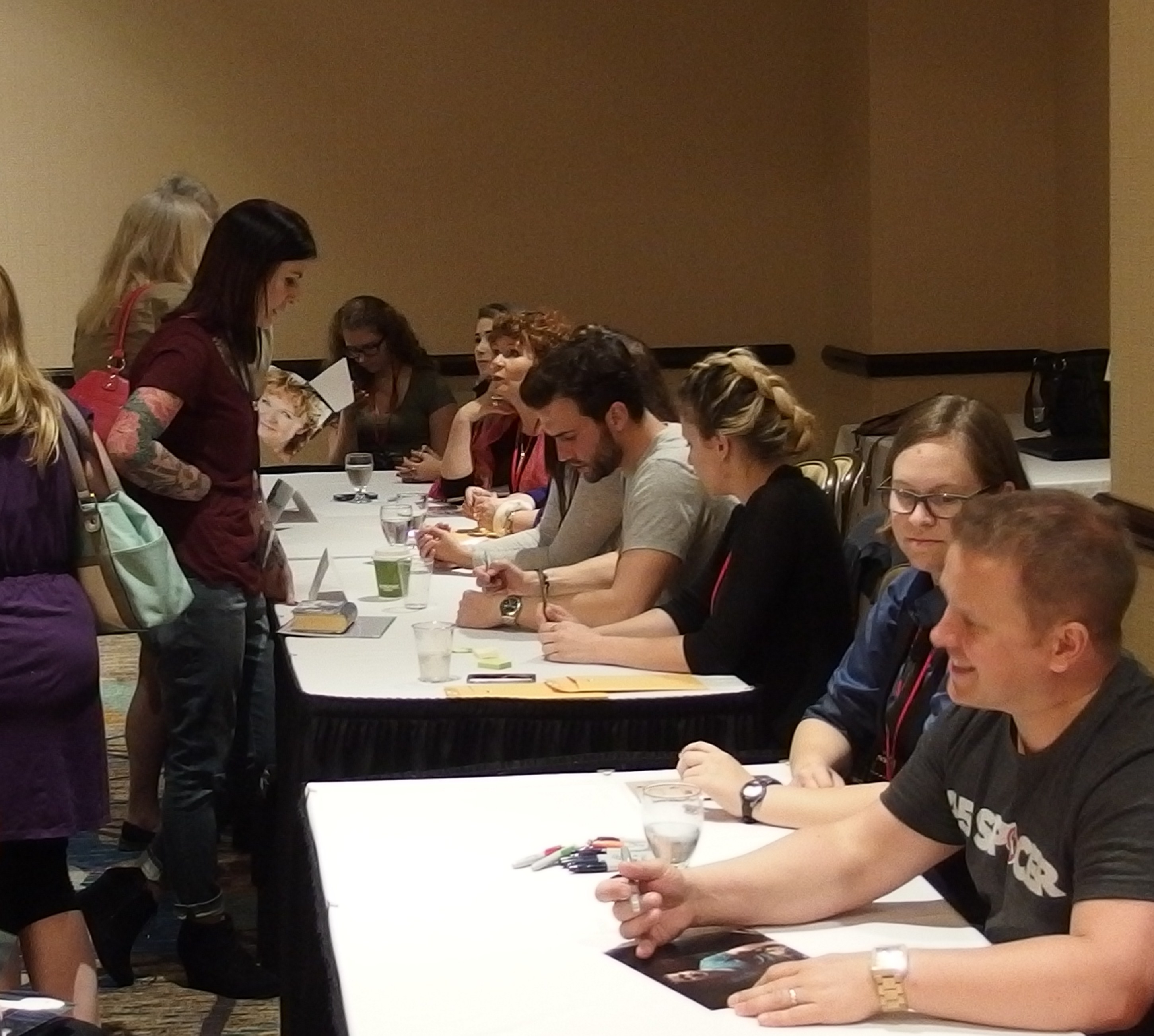 Guests and Cast members meet in the first autograph session