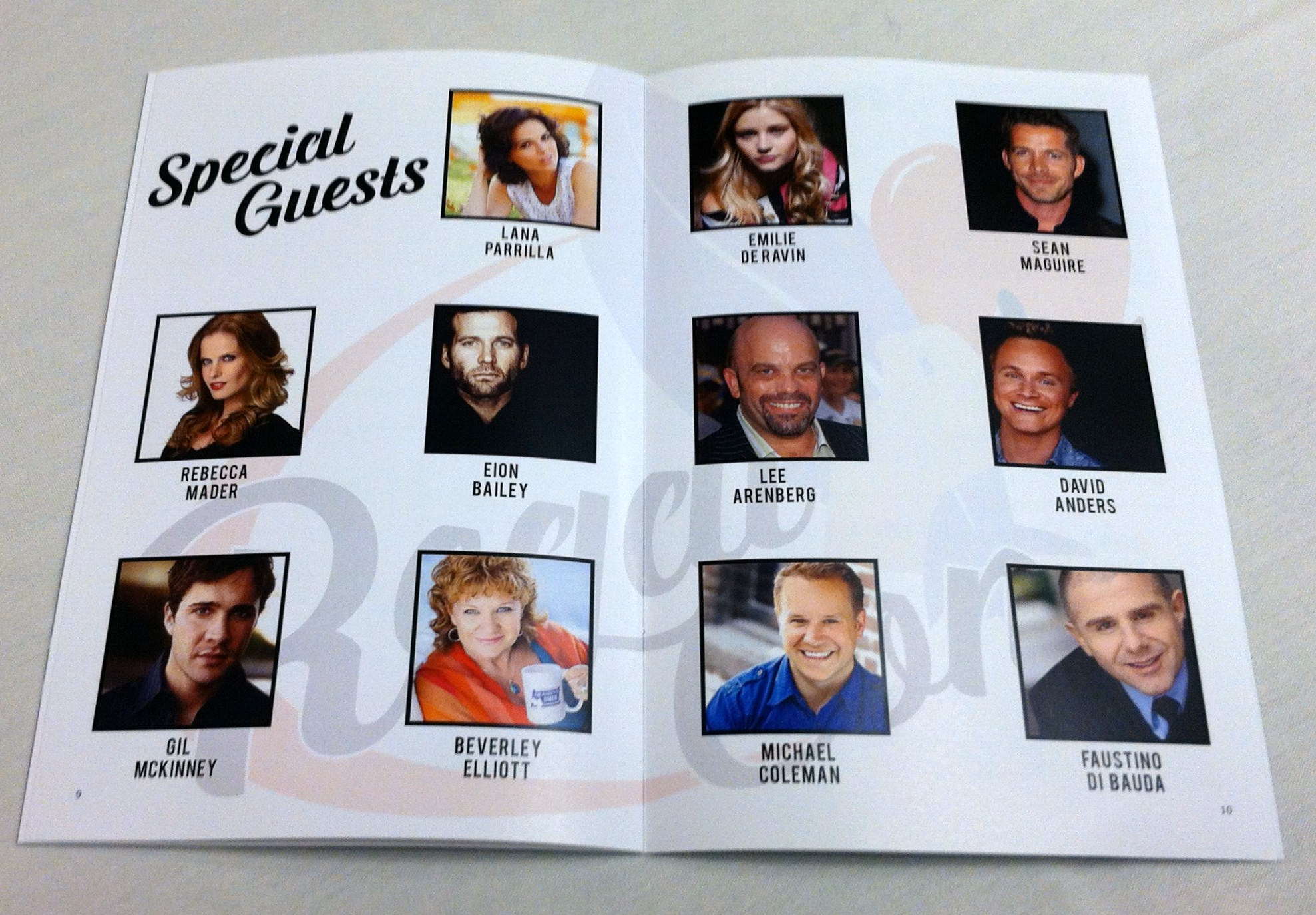 Regal Con 2015 Special Guests from the Program