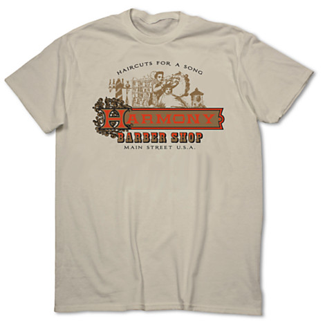 Harmony Barber Shop T-Shirts Available from Disney Store