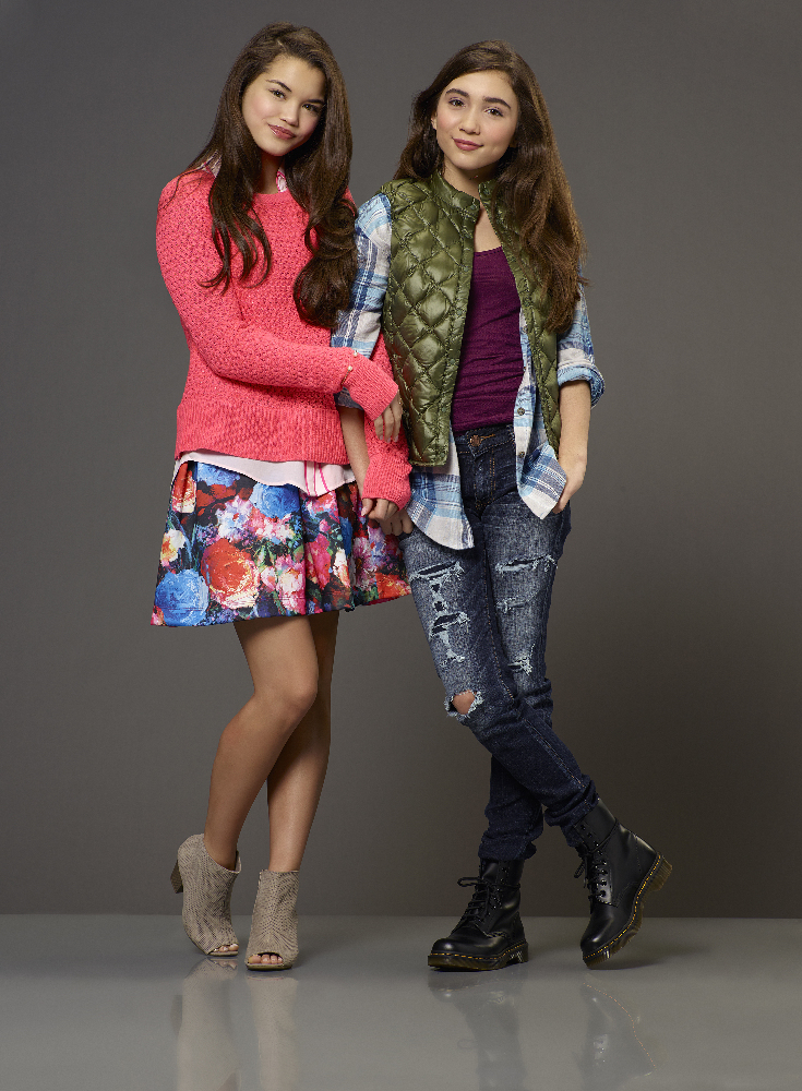 "INVISIBLE SISTER - Disney Channel's original movie ""Invisible Sister"" stars Paris Berelc as Molly and Rowan Blanchard as Cleo. (Disney Channel/Bob D'Amico)"