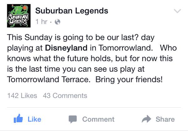 Suburban Legends post on Facebook
