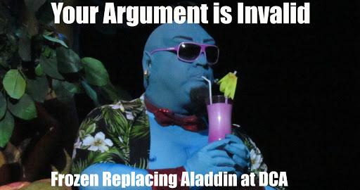 Frozen replaces Aladdin