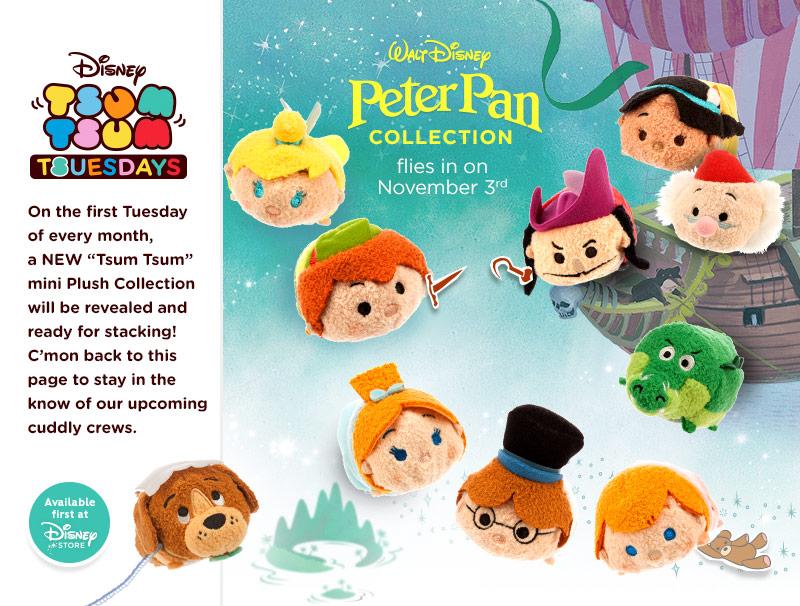Peter Pan Tsum Tsums Coming