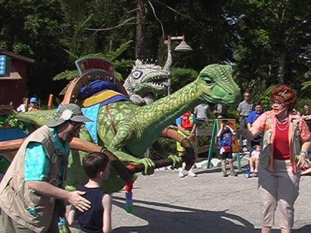 Who is this very impressive dinosaur that has roamed multiple Disney parks?