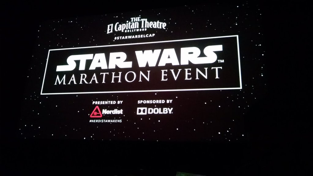 Star Wars: The Force Awakens Marathon at The El Capitan