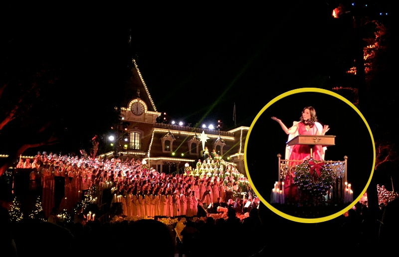 Once Upon a Time's Lana Parilla Casts Her Spell on Disneyland Candlelight 2015