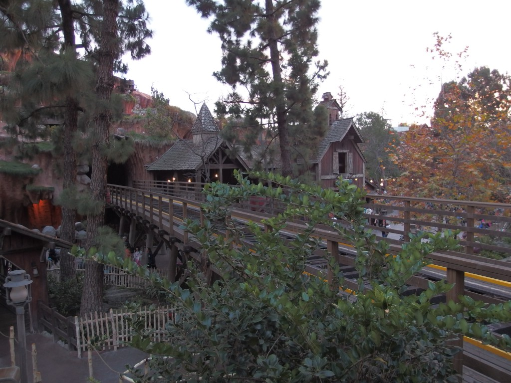 Railroad track has been removed from the trestle that runs through Critter Country