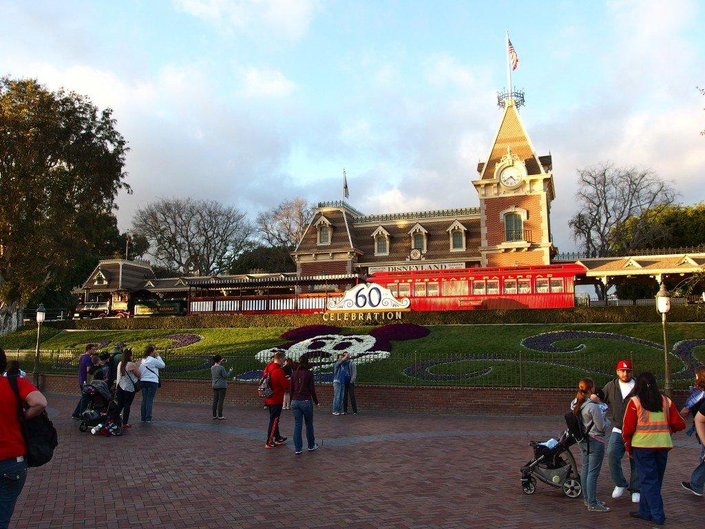 The train parked in front of Main Street Station includes the Lilly Belle parlor car