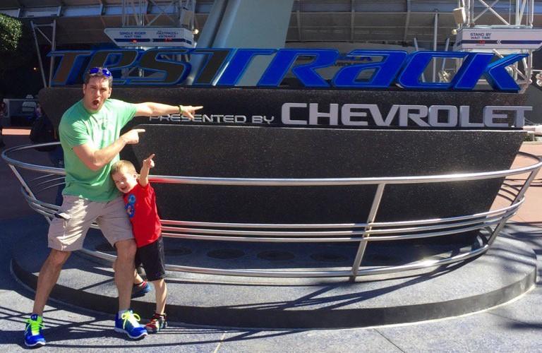 Celebrity Sighting: NASCAR Driver Elliot Sadler at Epcot