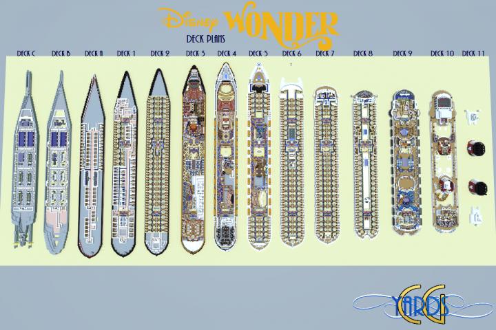 Minecraft Recreation of Disney Wonder Cruise Ship is Detailed Beyond Belief  LaughingPlacecom - Disney Magic Floor Plan