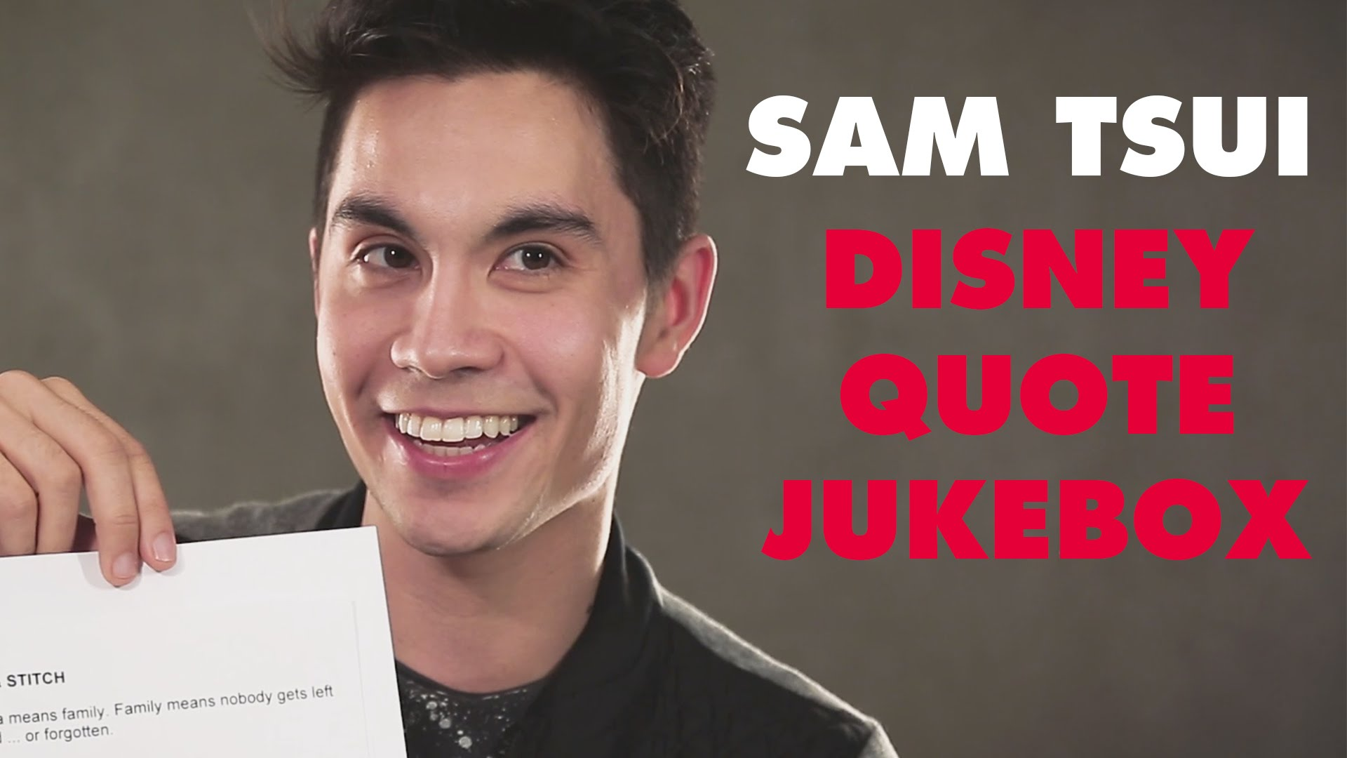 Oh My Disney Catches Up with YouTube Star Sam Tsui