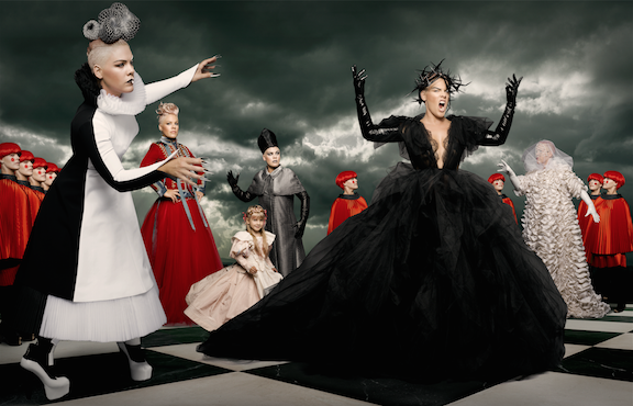 """P!nk Debuts New Music Video for """"Just Like Fire"""" From """"Alice Through the Looking Glass"""""""