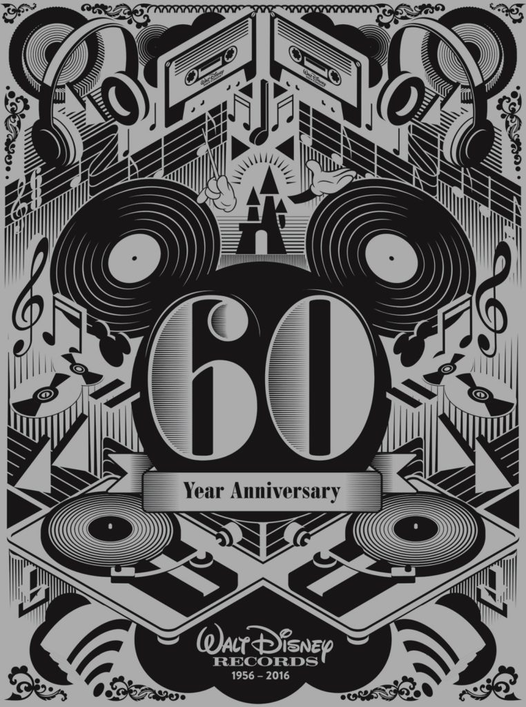 Walt Disney Music 60th birthday posters were given to audience members