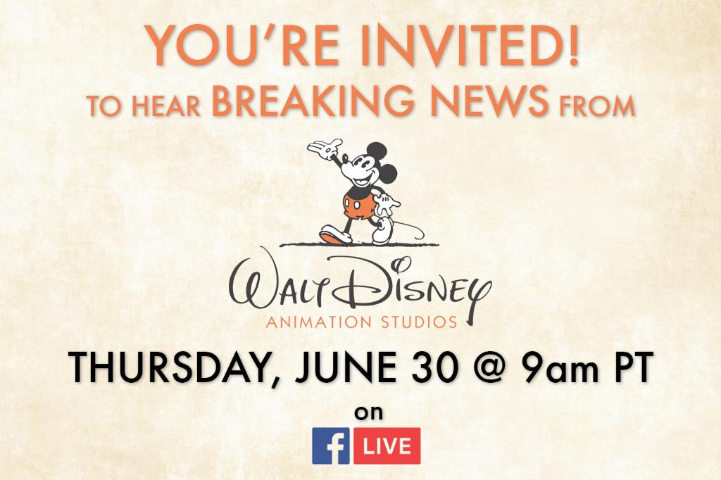 Walt Disney Animation Teases Breaking News Announcement