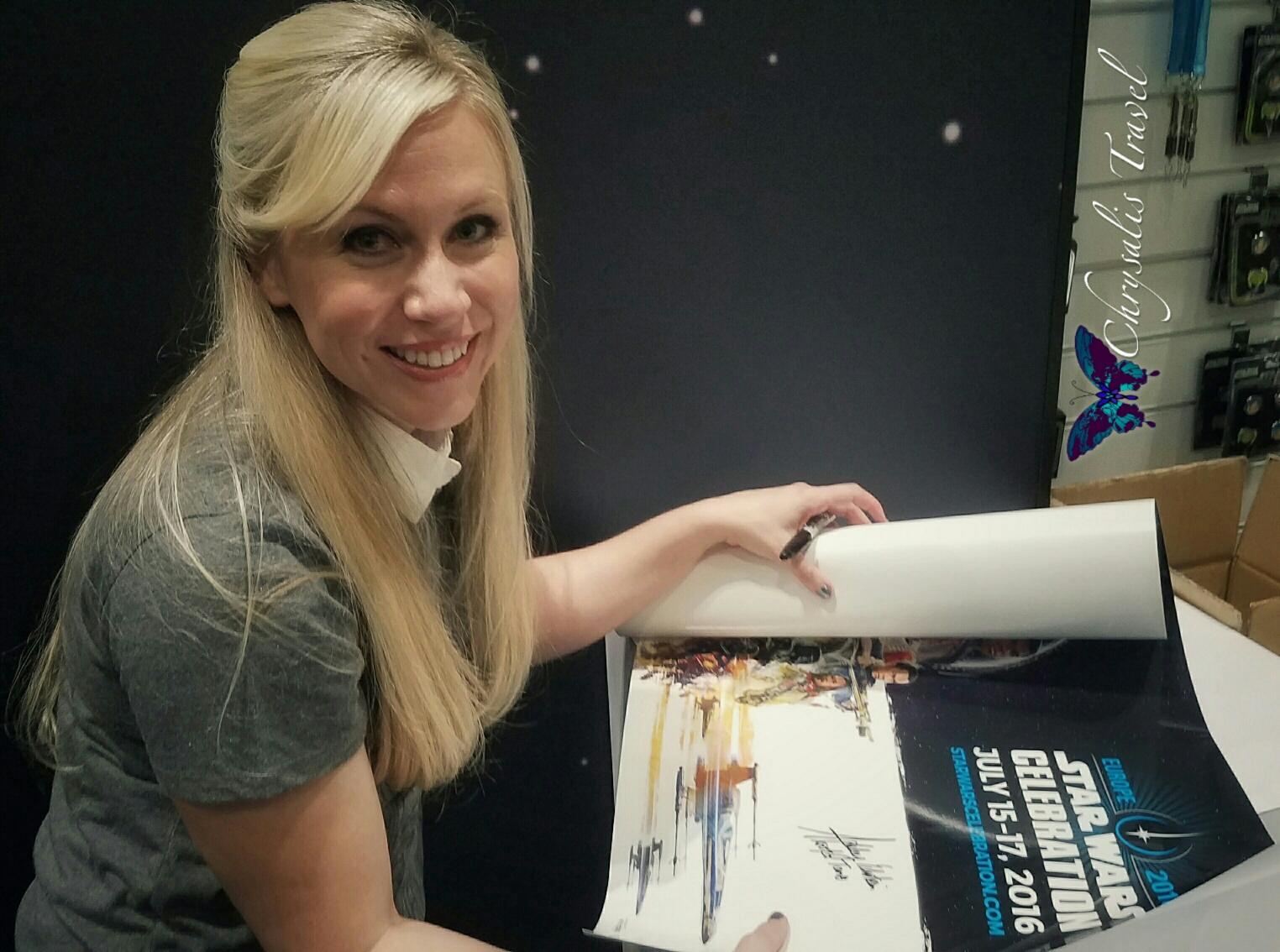 Ashley signing at SW Celebration