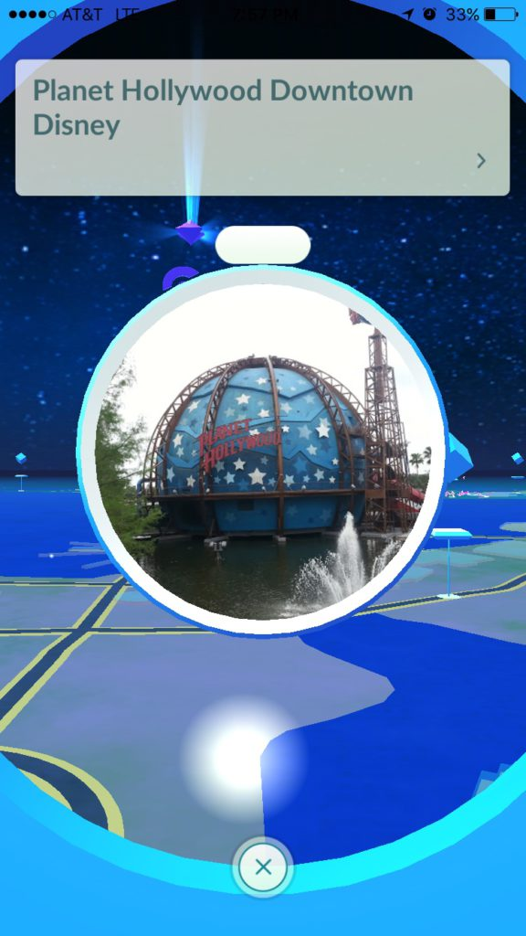 Planet Hollywood Pokestop and old gift shop Pokestop