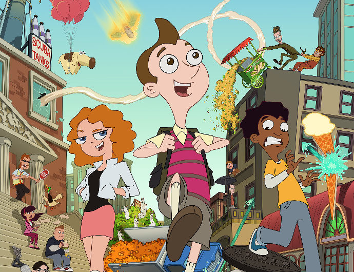 "MILO MURPHY'S LAW - Legendary satirist and Grammy Award-winning recording artist Al Yankovic (professionally known as ""Weird Al"") voices the title role in ""Milo Murphy's Law,"" a new animated adventure comedy series debuting MONDAY, OCTOBER 3 (8:00 p.m. EDT), on Disney XD. (Disney XD)"