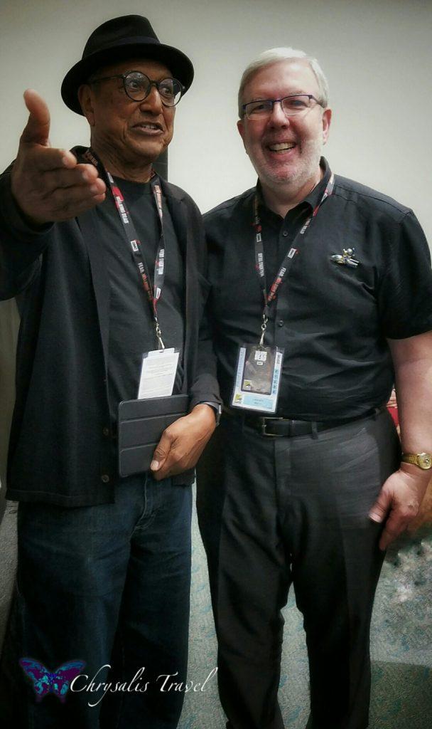 Floyd Norman with Leonard Maltin