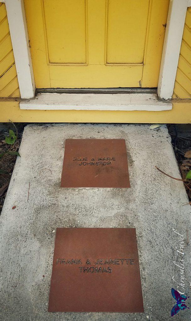 Tiles in front of Ollie Johnston's Station