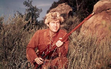 'Davy Crockett, King Of The Wild Frontier' TV Series - 1954-56...No Merchandising. Editorial Use Only  Mandatory Credit: Photo by c.Everett Collection / Rex Features ( 788700a )  'Davy Crockett, King Of The Wild Frontier', Fess Parker, 1955  'Davy Crockett, King Of The Wild Frontier' TV Series - 1954-56
