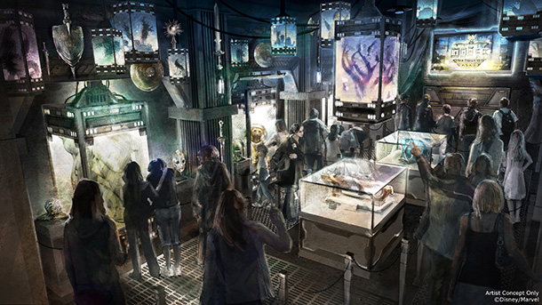 Mission: BREAKOUT will showcase a galaxy of rouge's in a space-punk museum setting - and feature a unique ride for every guest.