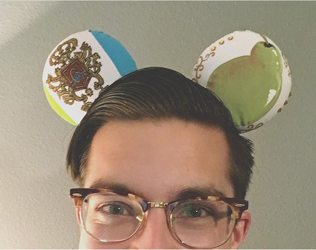 Why yes, those are custom Princess Diaries ears from Timbysia_Creations on Etsy. The back has the Grove High School uniform plaid. They are so good and SO specific.