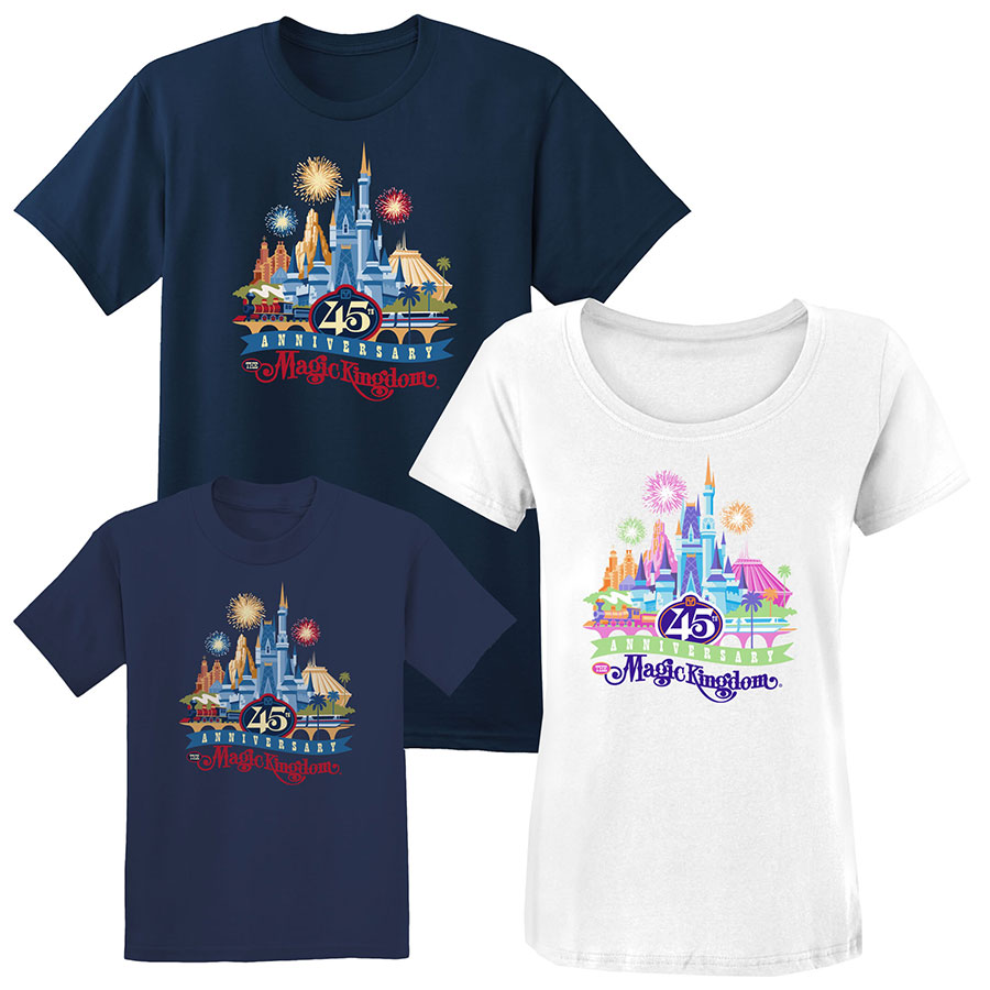 Walt disney world announces 45th anniversary merchandise for Wordpress t shirt store theme free