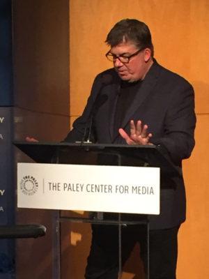 Panel host Jim Halterman, TV Guide West Coast Bureau Chief