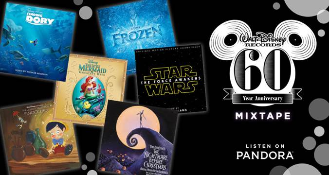 Pandora Partners with Walt Disney Records for Special 60th Anniversary Mixtape