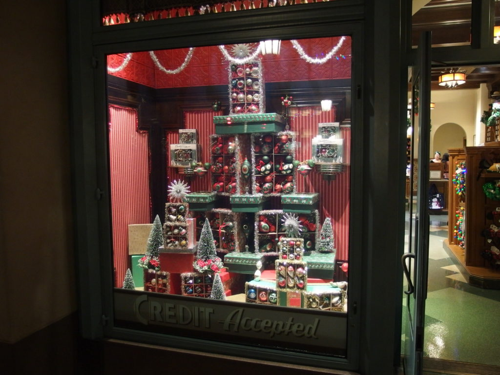 Shop windows offer a look into holidays of the past