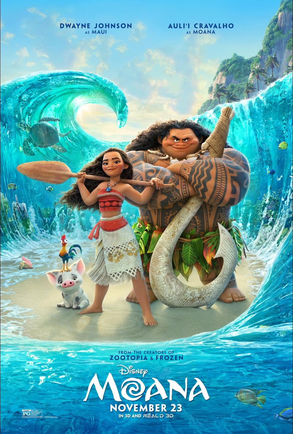 Movie Review Moana Laughingplace