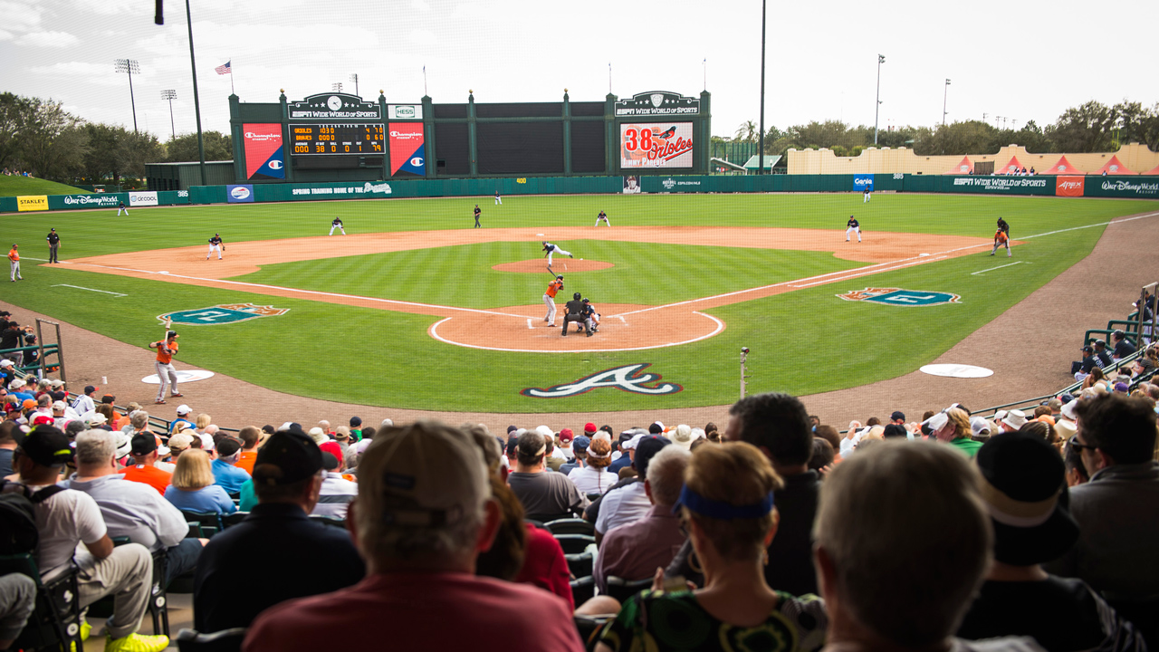 The Atlanta Braves to Hold Annual Spring Training Season at Walt Disney World for 20th Year