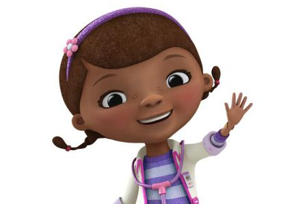 "DOC MCSTUFFINS - Disney Junior's Peabody Award-winning ""Doc McStuffins"" is an imaginative animated series about a six-year-old girl who communicates with and heals stuffed animals and broken toys out of her backyard playhouse clinic and in the magical McStuffins Toy Hospital. (Disney Junior)"